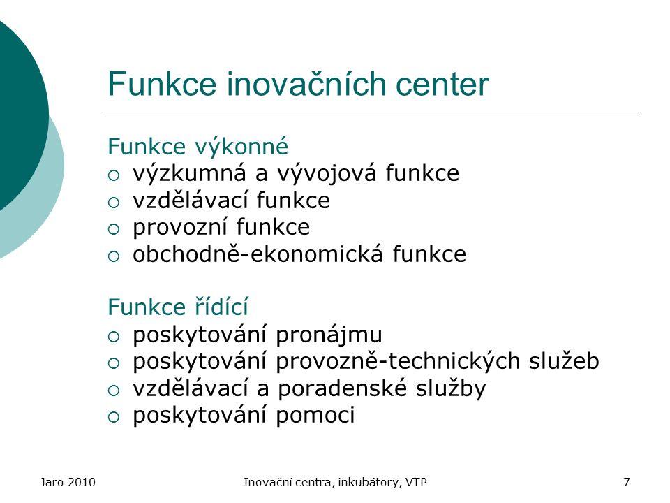 Funkce inovačních center