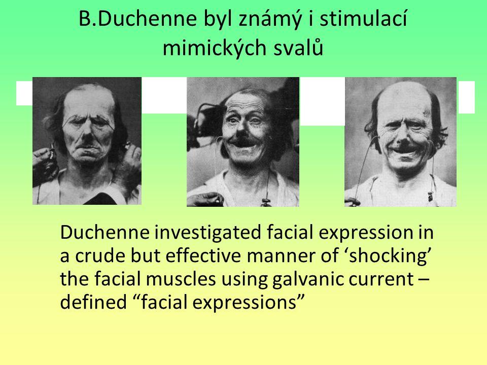 B.Duchenne byl známý i stimulací mimických svalů