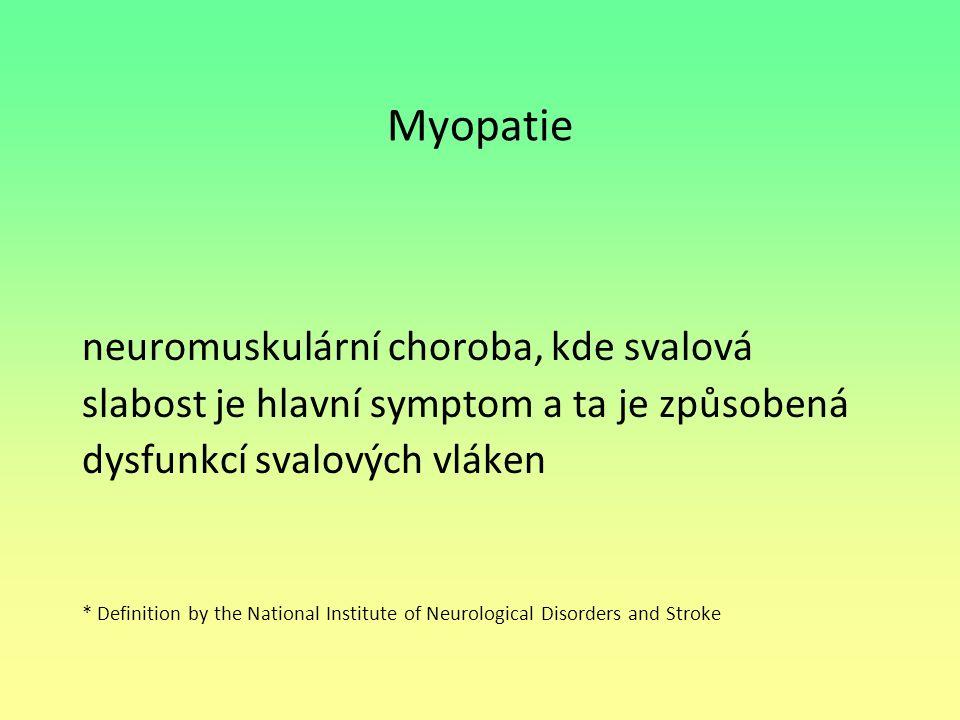 Myopatie neuromuskulární choroba, kde svalová