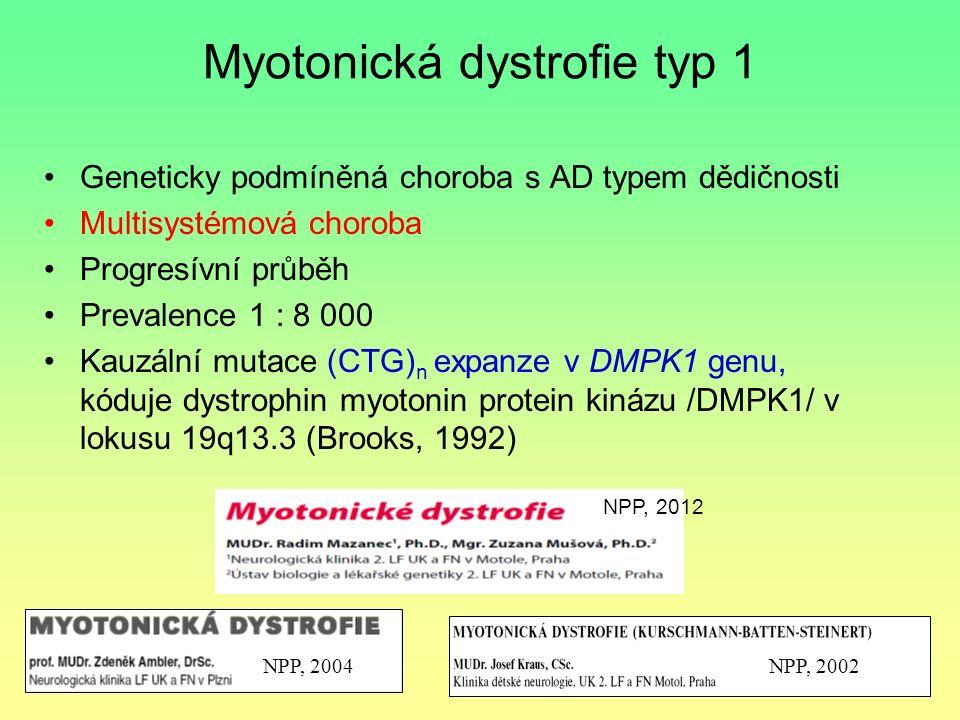 Myotonická dystrofie typ 1