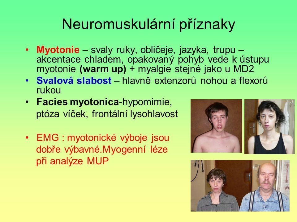 Neuromuskulární příznaky