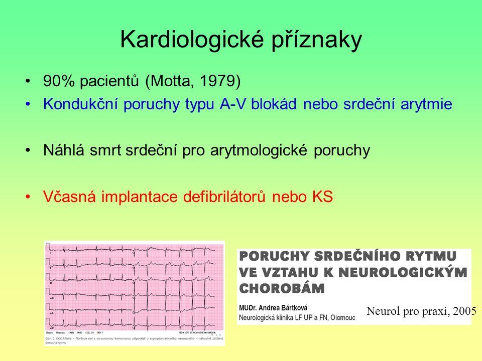 Kardiologické příznaky