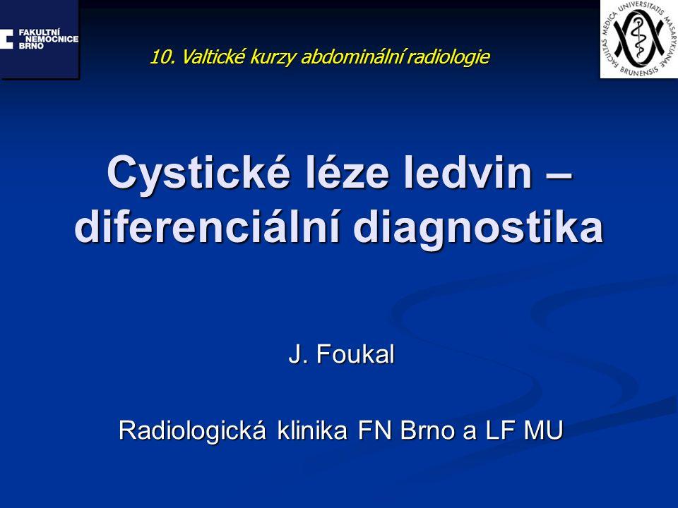 Cystické léze ledvin – diferenciální diagnostika