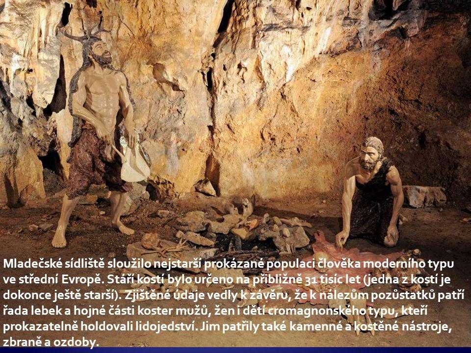 Mladečské sídliště sloužilo nejstarší prokázané populaci člověka moderního typu ve střední Evropě.