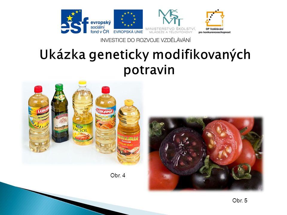 Ukázka geneticky modifikovaných potravin