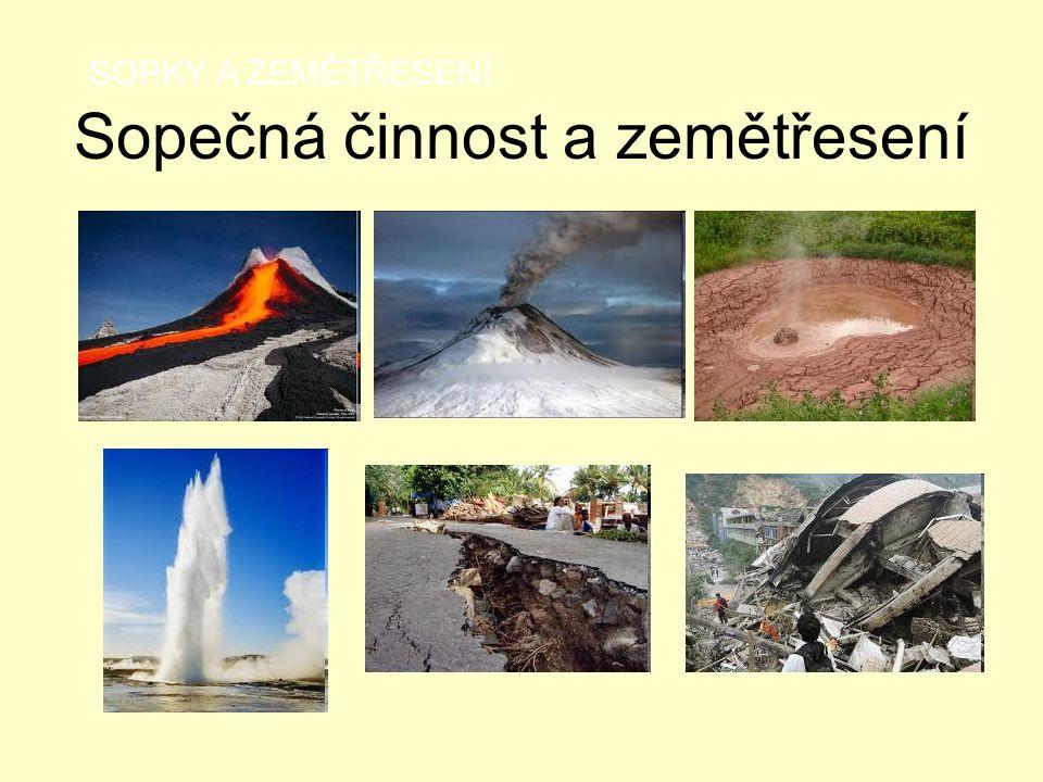 Sopečná činnost a zemětřesení