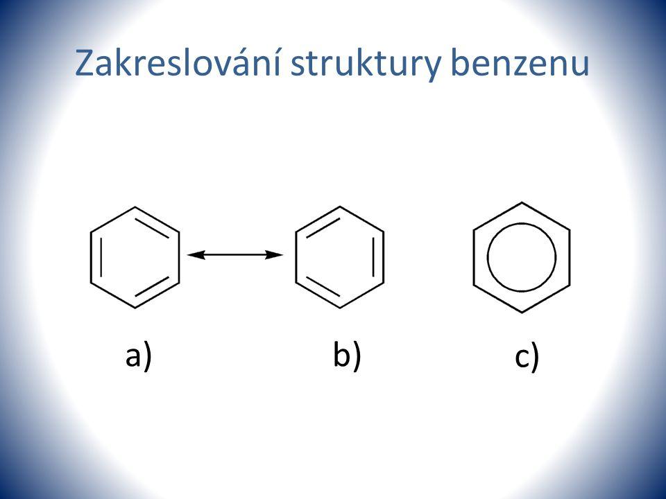 Zakreslování struktury benzenu