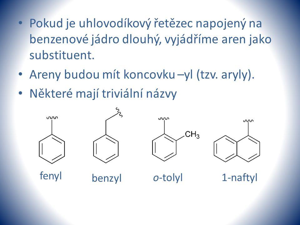 Areny budou mít koncovku –yl (tzv. aryly).