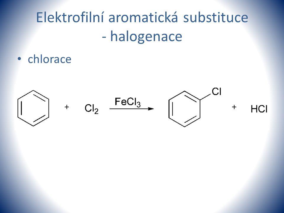 Elektrofilní aromatická substituce - halogenace