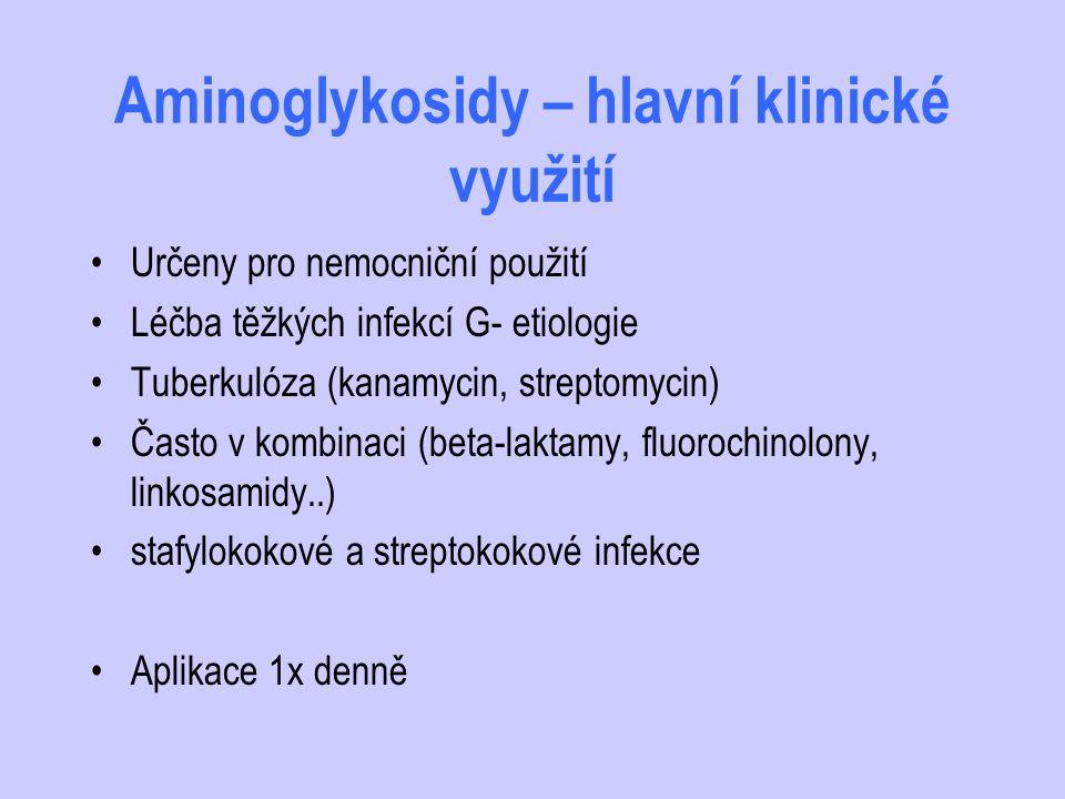 Aminoglykosidy – hlavní klinické využití