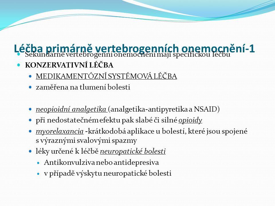 Léčba primárně vertebrogenních onemocnění-1