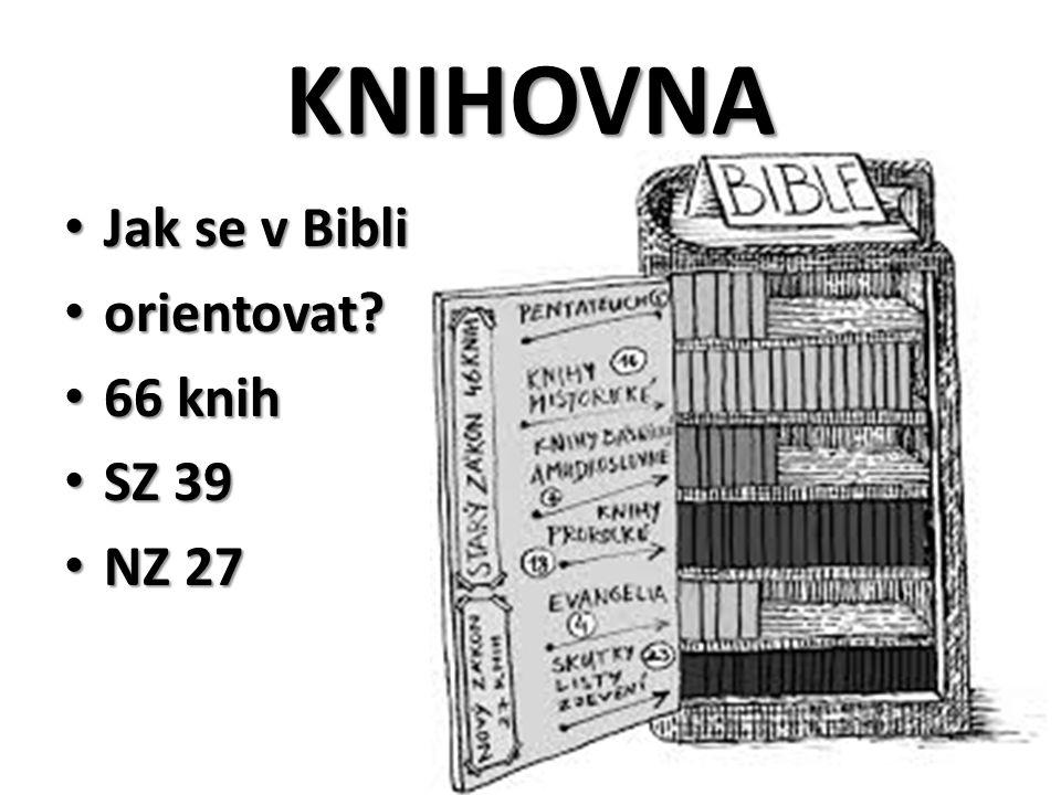 KNIHOVNA Jak se v Bibli orientovat 66 knih SZ 39 NZ 27