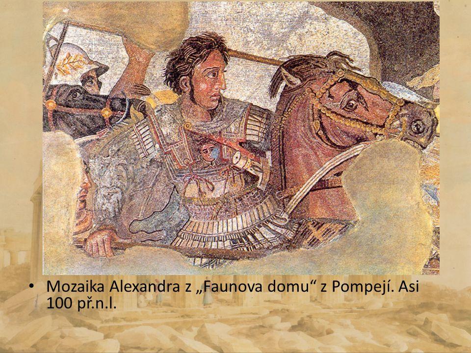 "Mozaika Alexandra z ""Faunova domu z Pompejí. Asi 100 př.n.l."