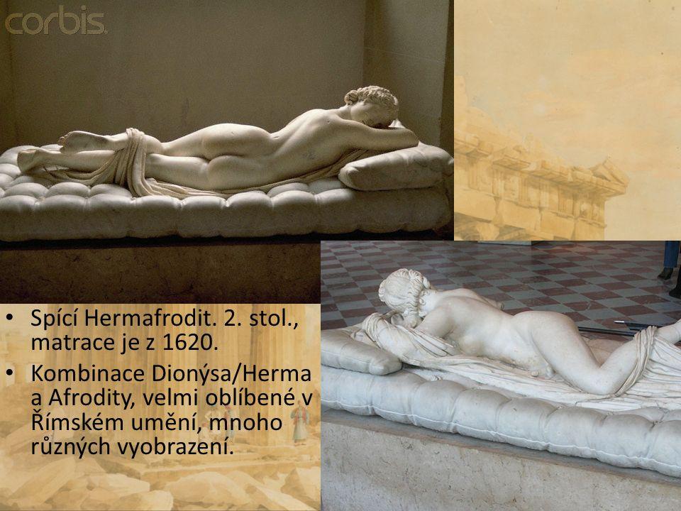 Spící Hermafrodit. 2. stol., matrace je z 1620.