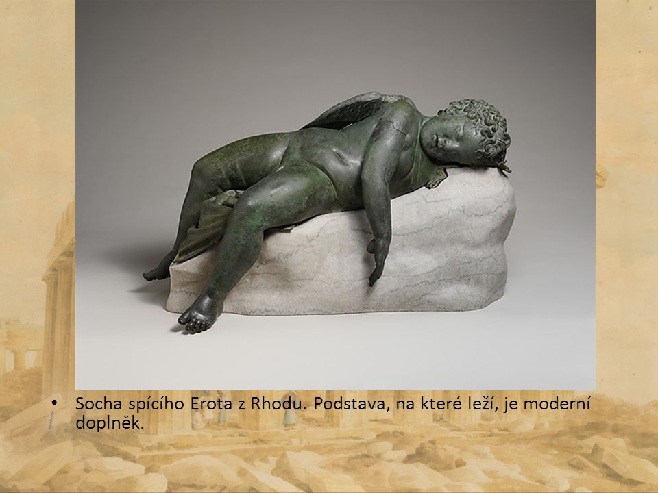 Socha spícího Erota z Rhodu