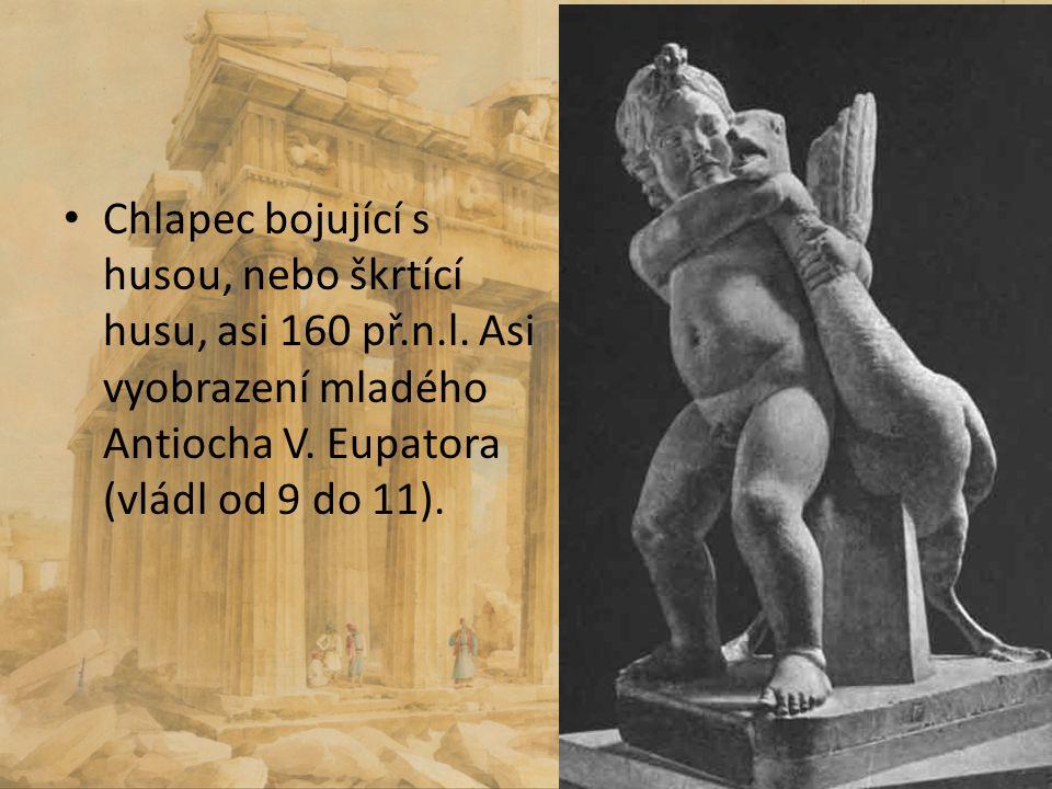 Chlapec bojující s husou, nebo škrtící husu, asi 160 př. n. l