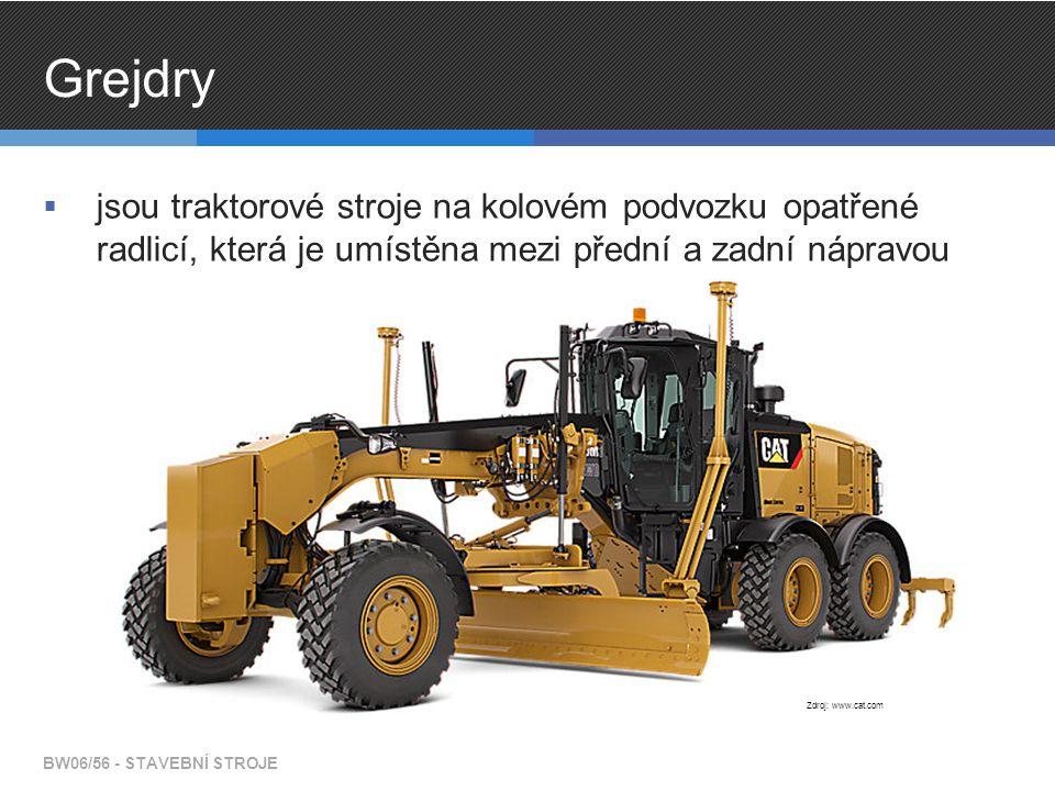Grejdry jsou traktorové stroje na kolovém podvozku opatřené radlicí, která je umístěna mezi přední a zadní nápravou.