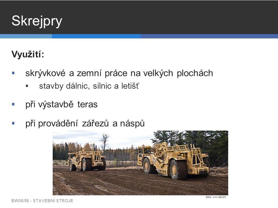 Skrejpry Využití: skrývkové a zemní práce na velkých plochách