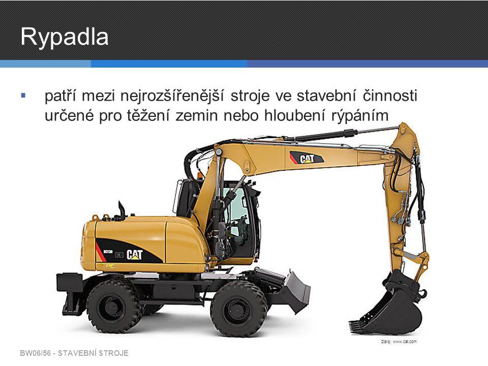 Rypadla patří mezi nejrozšířenější stroje ve stavební činnosti určené pro těžení zemin nebo hloubení rýpáním.