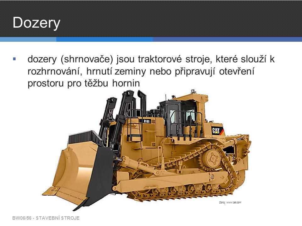 Dozery dozery (shrnovače) jsou traktorové stroje, které slouží k rozhrnování, hrnutí zeminy nebo připravují otevření prostoru pro těžbu hornin.
