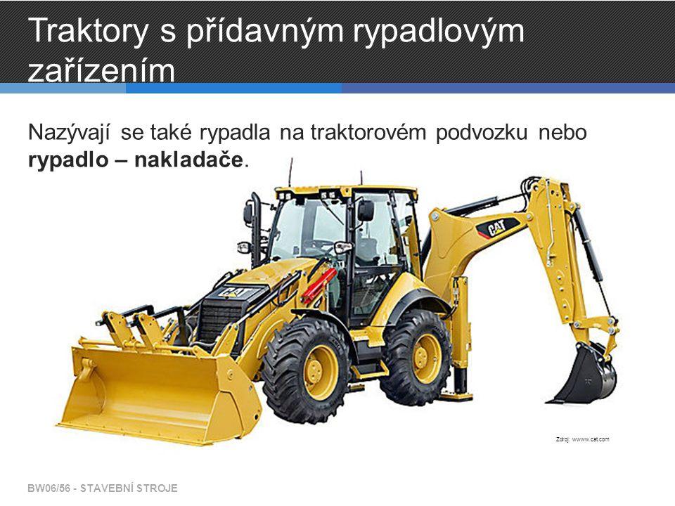 Traktory s přídavným rypadlovým zařízením