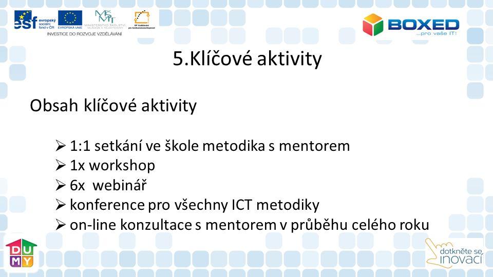 5.Klíčové aktivity Obsah klíčové aktivity
