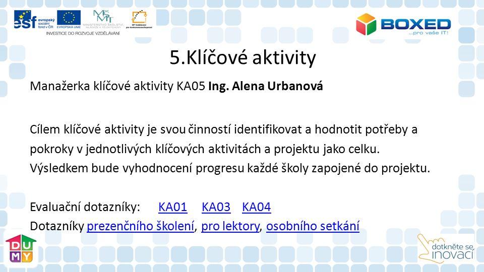 5.Klíčové aktivity