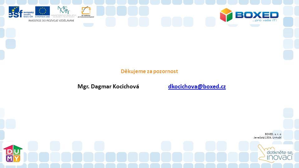 Mgr. Dagmar Kocichová dkocichova@boxed.cz