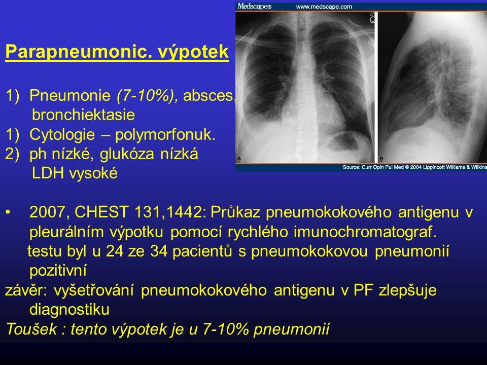 Parapneumonic. výpotek