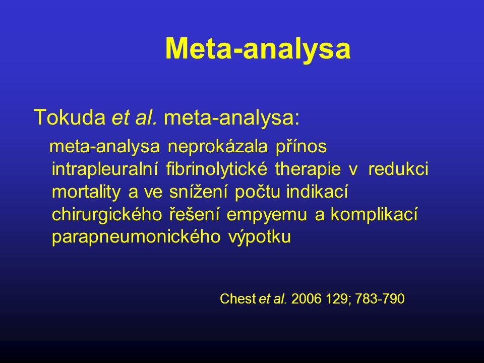 Meta-analysa Tokuda et al. meta-analysa: