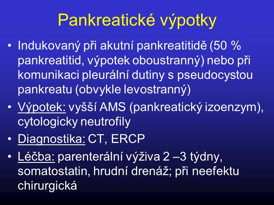 Pankreatické výpotky