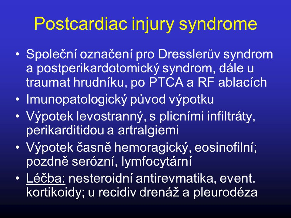 Postcardiac injury syndrome