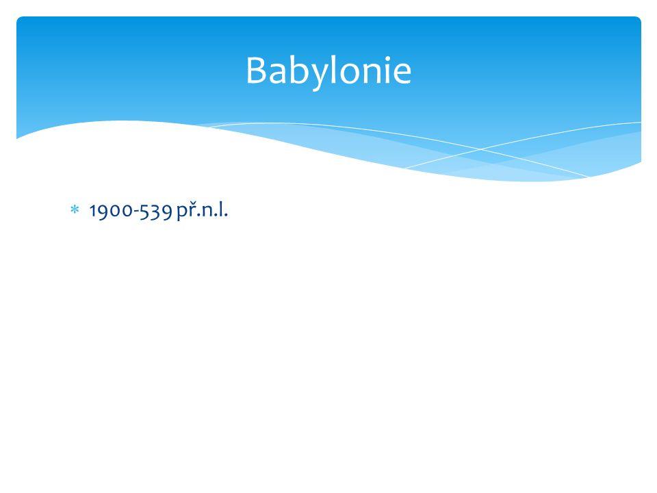 Babylonie 1900-539 př.n.l.