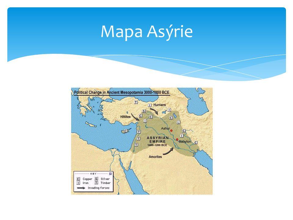 Mapa Asýrie