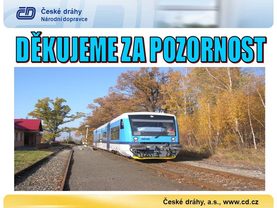 DĚKUJEME ZA POZORNOST České dráhy České dráhy, a.s., www.cd.cz