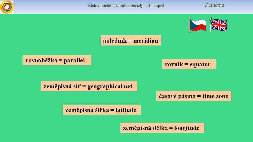 zeměpisná síť = geographical net