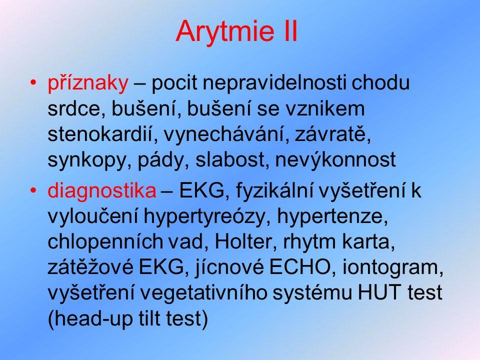Arytmie II