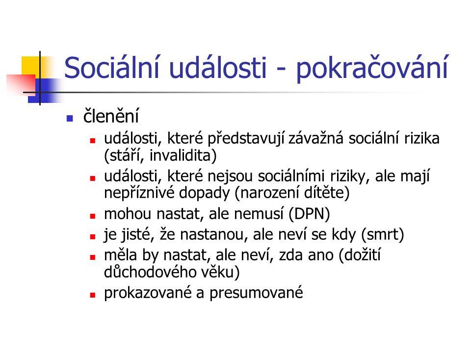 Sociální události - pokračování
