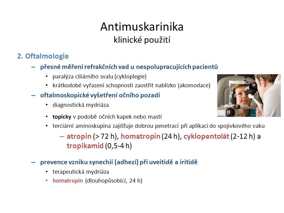 Antimuskarinika klinické použití