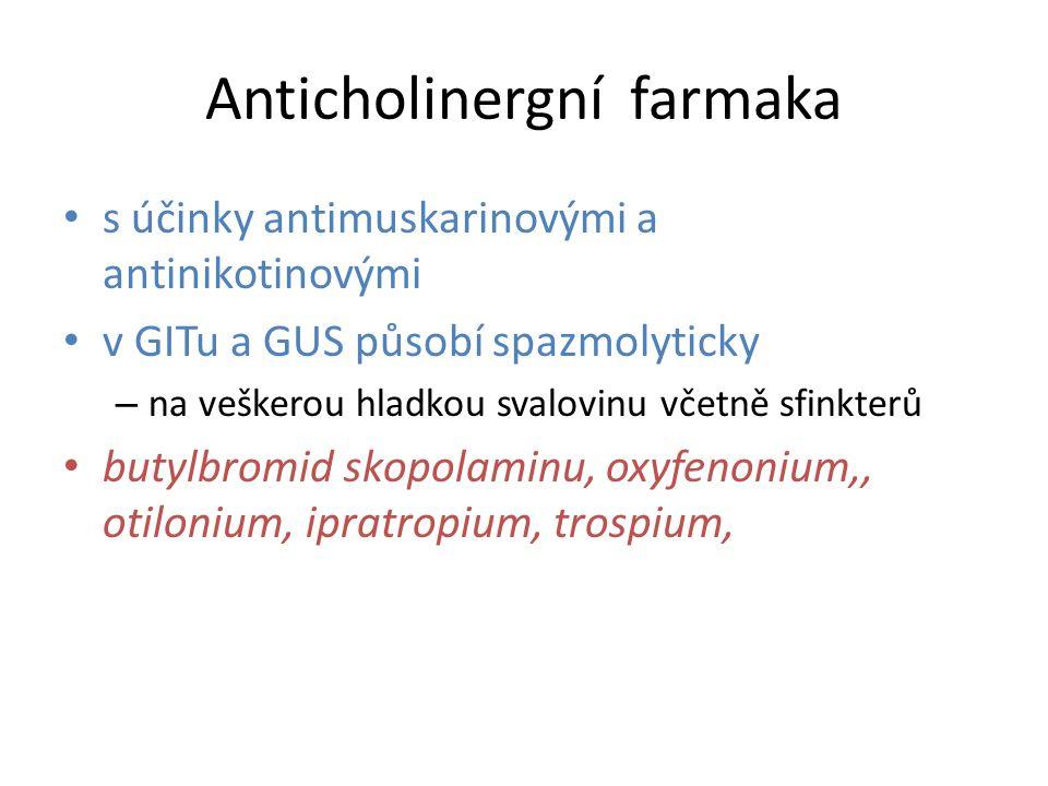 Anticholinergní farmaka