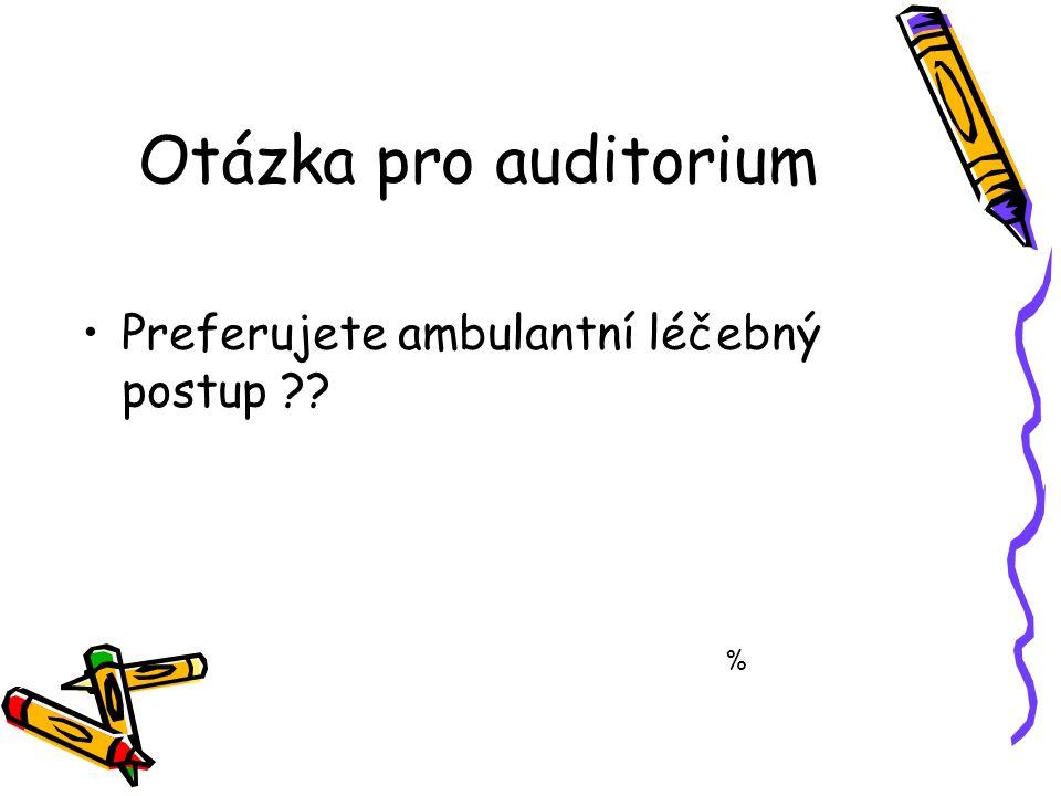 Otázka pro auditorium Preferujete ambulantní léčebný postup %