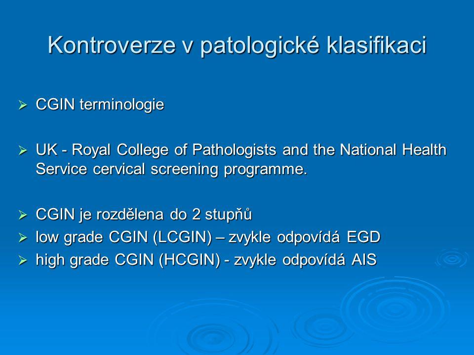 Kontroverze v patologické klasifikaci