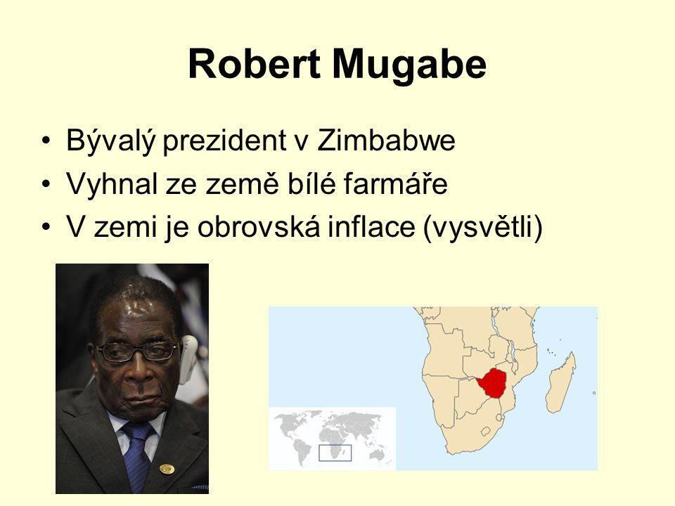 Robert Mugabe Bývalý prezident v Zimbabwe Vyhnal ze země bílé farmáře