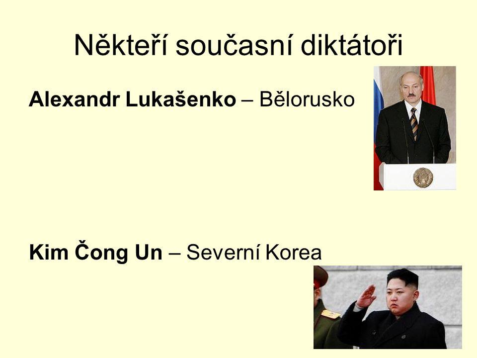 Někteří současní diktátoři