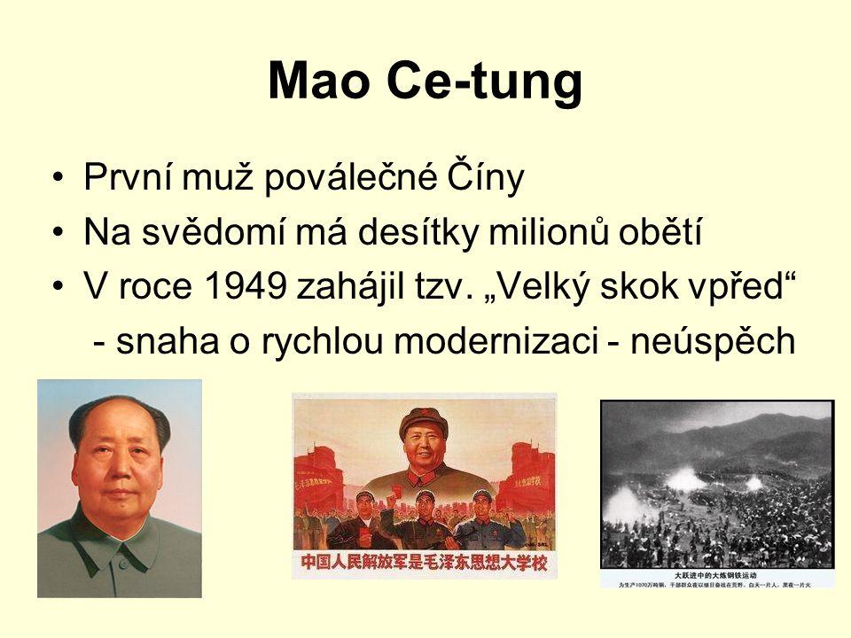Mao Ce-tung První muž poválečné Číny