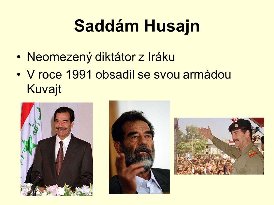 Saddám Husajn Neomezený diktátor z Iráku