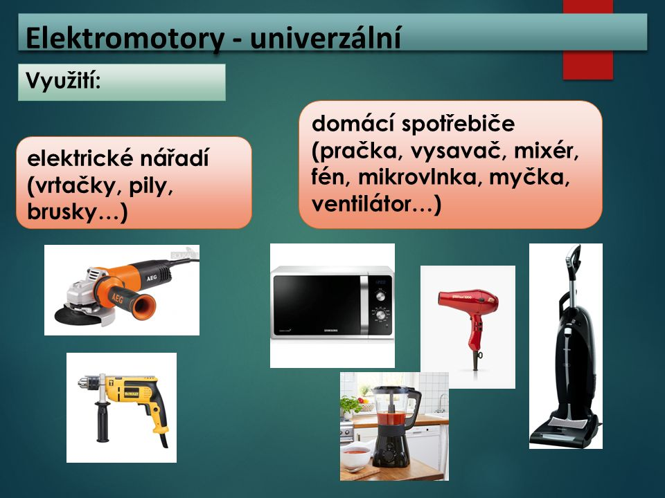 Elektromotory - univerzální