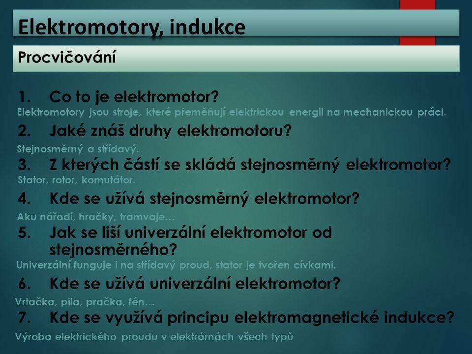 Elektromotory, indukce