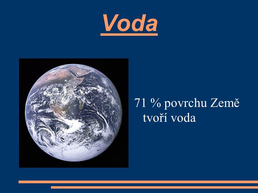 Voda 71 % povrchu Země tvoří voda