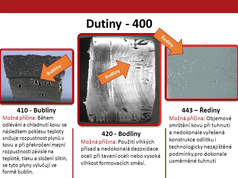 Dutiny - 400 410 - Bubliny 443 – Řediny 420 - Bodliny
